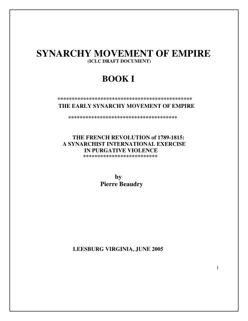 Synarchy Movement Of Empire Pierre Beaudry S Galactic