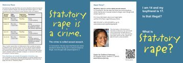 Statutory Rape.indd - Center for Children's Advocacy