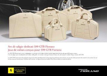 Set di valigie dedicati 599 gtb Fiorano Jeux de valises conçus pour ...