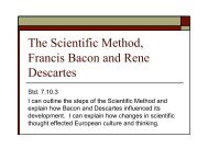 The Scientific Method, Francis Bacon and Rene ... - J-blanchard.org