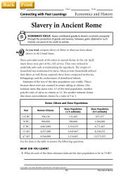 Slavery in Ancient Rome - J-blanchard.org