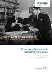 Know Your Customers & Client Interview Skills ... - NASDAQ Dubai