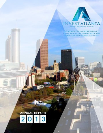 Invest Atlanta Annual Report 2013
