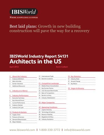 Architects in the US Industry Report.pdf - Business Plans Hawaii