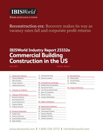 Commercial Building Construction in the US - Business Plans Hawaii