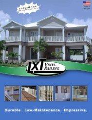 LXT Vinyl Railing Brochure - Digger Specialties, Inc.