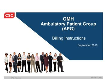 APG - The Coalition of Behavioral Health Agencies, Inc.