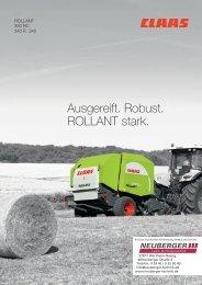 Claas Rollant 340-350 Rundballenpresse - NEUBERGER Land ...