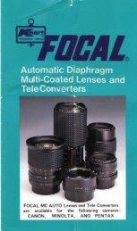 Focal Brochure K mount.pdf - Pentax Forums