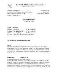 Passion Sunday - St Peter's Church, Berkhamsted, Herts