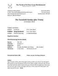 Latest pewleaflet - St Peter's Church, Berkhamsted, Herts