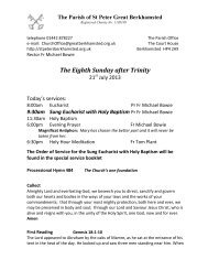 The Eighth Sunday after Trinity - St Peter's Church, Berkhamsted ...