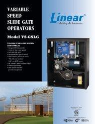 VARIABLE SPEED SLIDE GATE OPERATORS - Linear