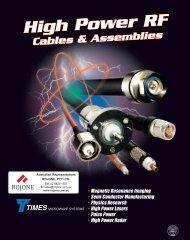 High Power Cables & Assemblies - Rojone