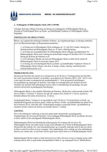 Læs forvaltningens indstilling til Børne- og ... - mitBUF.dk