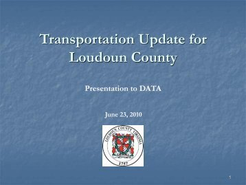 Transportation Update for Loudoun County - Sully District Council of ...