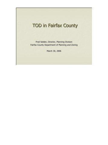 TOD in Fairfax County - Dulles Corridor Rail Association
