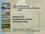 Briefing to the Transportation Advisory Commission (TAC)
