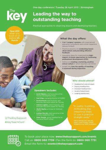 Outstanding teaching - Apr 15 - Brochure