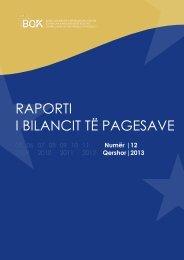raporti i bilancit të pagesave - Banka Qendrore e Republikës së ...