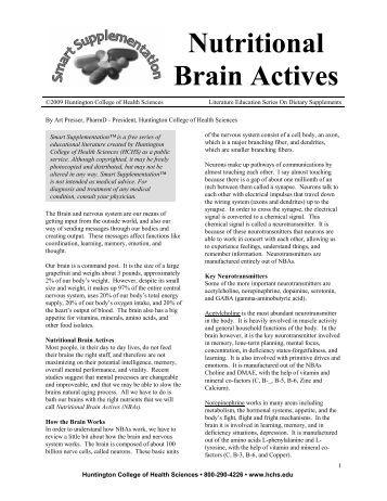 Nutritional Brain Actives - Viva Vitamins