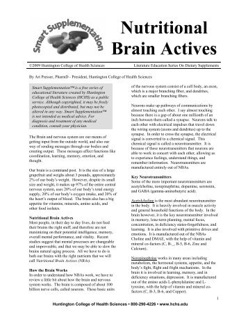 Nutritional Brain Actives - Viva Vitamins