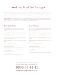 Wedding Packages 2012