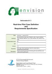 Real-time Pilot Case Definition and Requirements Specification