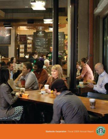 Starbucks Corporation Fiscal 2009 Annual Report