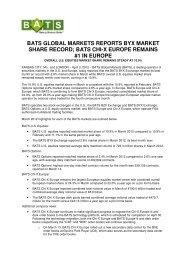 BATS GLOBAL MARKETS REPORTS BYX ... - BATS Exchange