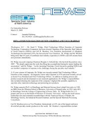 For Immediate Release March 25, 2009 Contact: Amanda ... - SSINA