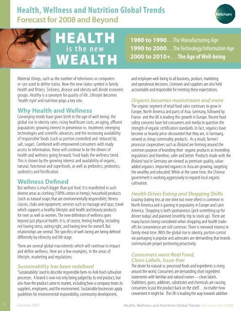 Health Wellness And Nutrition Global Trends Ketchum Perspectives