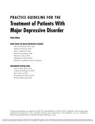 Treatment of Patients With Major Depressive Disorder - Precis E ...