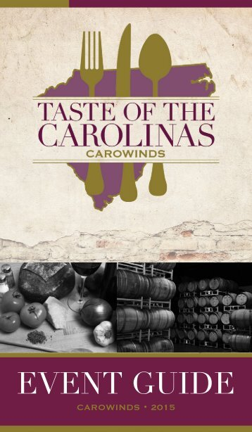 CC15-067 Taste Of The Carolinas Passport Booklet