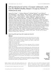 Self-reported physical activity in European adolescents: results from ...