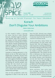 Korach Don't Disguise Your Ambitions - Federation Of Synagogues