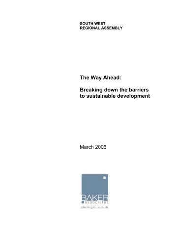 Breaking down the barriers to sustainable development