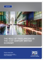 The Role of Freelancers in the 21st Century British Economy