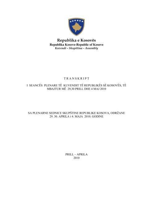 Republika e Kosovës - Kuvendi