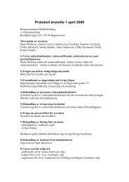 Protokoll årsmöte 1 april 2009 - Föräldraföreningen