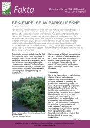 Bekjempelse av parkslirekne 2010 - FAGUS