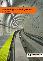 Tunnelling & Underground - Amberg.com.sg