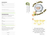 For a PDF brochure with more information on Little Lambs ...