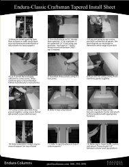 Endura-Classic Craftsman Tapered Install Sheet - Pacific Columns ...