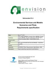 Report presenting requirements specification of the oil spill and ...