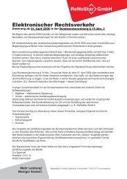 Elektronischer Rechtsverkehr - ReNoStar