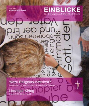 Wozu Religionsunterricht? - Evangelische Pfarrgemeinde Wien ...
