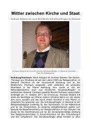 A. Dieterle ist neuer Kirchlicher Schulbeauftragter im Dekanat - Magix