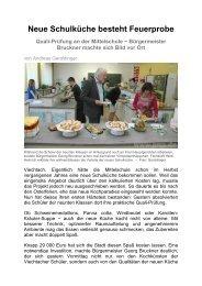 15.05.2013: Quali-Prüfungen in neuer Schulküche - Magix