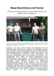 Handwerkerverein installiert Dachrinnen und Regentonnen - Magix